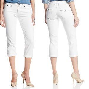 LUCKY BRAND Sweet Jean Crop w/ Flap in Pearl White